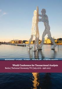 Programm Weltkonferenz Transaktionsanalyse